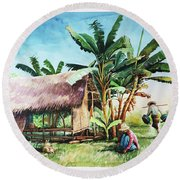 Myanmar Custom_09 Round Beach Towel