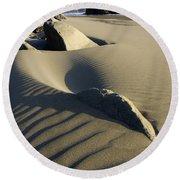 Myers Creek Beach Oregon 1 Round Beach Towel