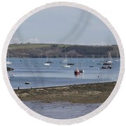 Mylor Panorama Round Beach Towel