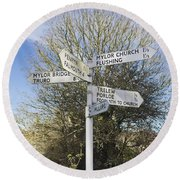 Mylor Signpost Round Beach Towel