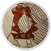 Myra - Tile Round Beach Towel