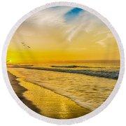 Myrtle Beach Round Beach Towel