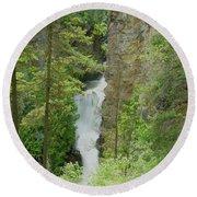 Myrtle Creek Falls  Round Beach Towel