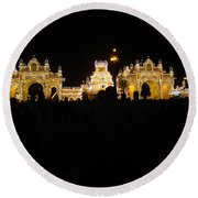 Mysore Palace 2 Round Beach Towel