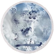 Mysterious Carnival Mask Round Beach Towel