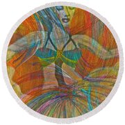 Mysterious Dancer Round Beach Towel
