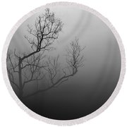 Mysterious Tree Round Beach Towel