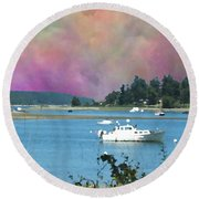 Mystery Bay Round Beach Towel