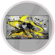 Mystery Lady  Round Beach Towel