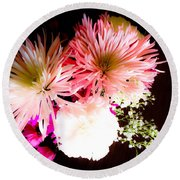 Mystery Of A Flower Round Beach Towel