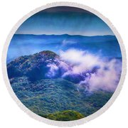 Mystery Of Looking Glass Rock Round Beach Towel