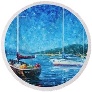 Mystery Of The Night 3  Round Beach Towel
