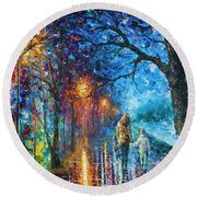 Mystery Of The Night Round Beach Towel
