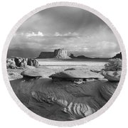 Mystery Valley Overlook Ir 0550 Round Beach Towel