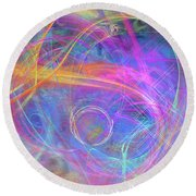 Mystic Beginning Round Beach Towel