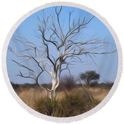 Mystic Buishveld Tree Round Beach Towel