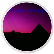 Mystic Evening Round Beach Towel