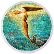 Mystic Mermaid Iv Round Beach Towel