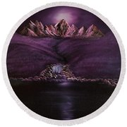 Mystic Mountains Round Beach Towel