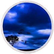 Mystic Tree Round Beach Towel