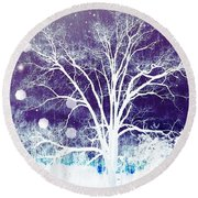 Mystical Dreamscape Round Beach Towel