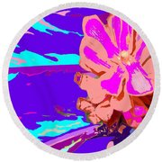 Mystical Flower Round Beach Towel