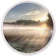 Mystical Fogs Of Florida Round Beach Towel