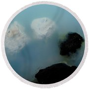 Mystical Island - Healing Waters Round Beach Towel