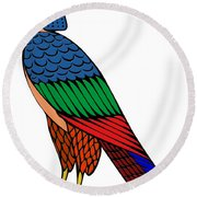 mythical creature of ancient Egypt Round Beach Towel