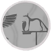 Mythical Creatures Round Beach Towel
