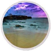 Mythical Ocean Sunset  Round Beach Towel