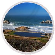 An Afternoon In San Francisco Round Beach Towel