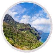 Na Pali Coast Kauai Round Beach Towel