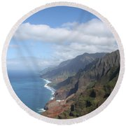 Na Pali Coast Round Beach Towel