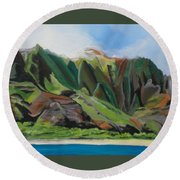 Na Pali Cruise Round Beach Towel