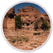 Nabatean's Village Round Beach Towel