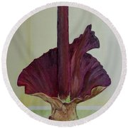Voodoo Lily 1a Round Beach Towel