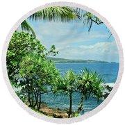 Nahiku Kaelua Hanawi Honolulunui Maui Hawaii Round Beach Towel