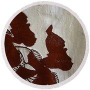 Nakato And Babirye - Twins 2 - Tile Round Beach Towel