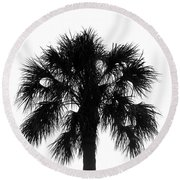 Naked Palm Round Beach Towel