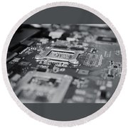 Naked Technology Round Beach Towel