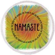 Namaste Divine And Honor Swirl Round Beach Towel