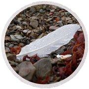 Nameless Feather 1 Round Beach Towel