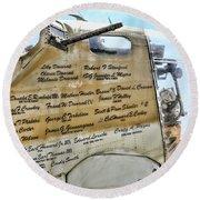 Names On B-17 Round Beach Towel