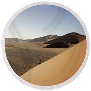 Namibia Sossusvlei 2 Round Beach Towel