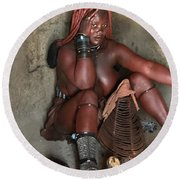 Namibia Tribe 1 Round Beach Towel