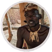 Namibia Tribe 2 - Chief Round Beach Towel