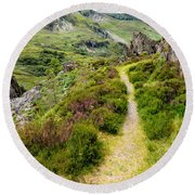 Nant Ffrancon Footpath Round Beach Towel