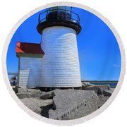 Nantucket Lighthouse Y1 Round Beach Towel