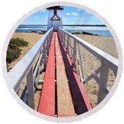 Nantucket Lighthouse - Y2 Round Beach Towel
